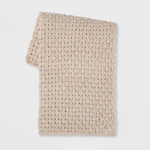 Chunky Knit Throw Blanket - Threshold™ - image 1 of 4