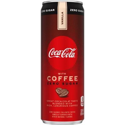 Coca-Cola with Coffee Vanilla Zero Sugar - 12 fl oz Can