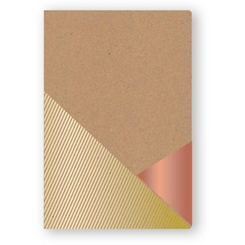 Mead Composition Notebook, Narrow Ruled, 160 sheets, 5.75 x 8.5 - Kraft and Metallic Dipped - image 1 of 1