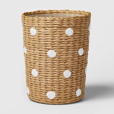 Woven Paper Dot Wastebasket - Pillowfort™