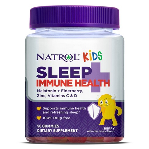 Natrol Kids Sleep + Immune Health Sleep Aid Gummies - Berry - 50ct - image 1 of 3