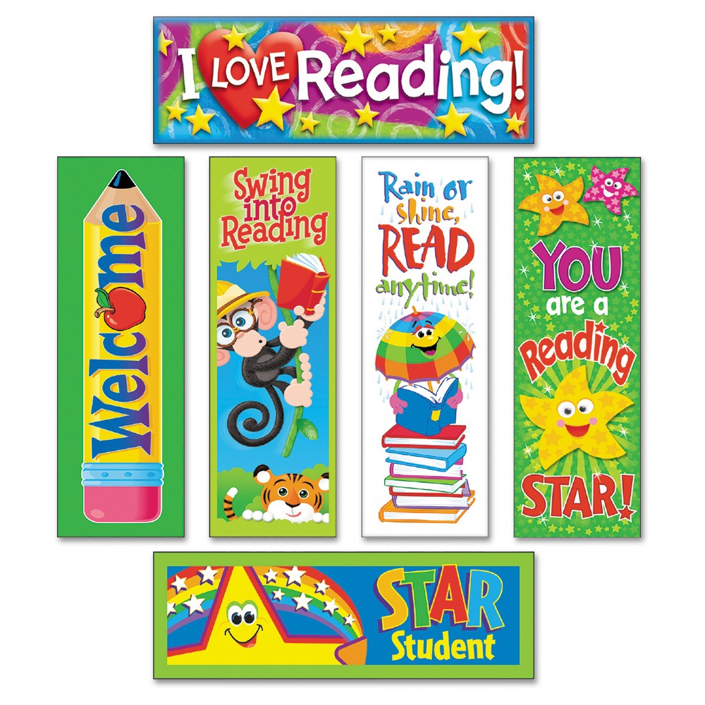 Image of TREND Bookmark Combo Packs, Reading Fun Variety Pack #2, 2w x 6h, 216/Pack