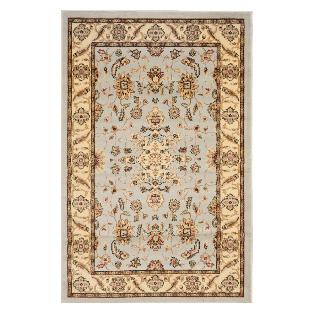 4'X6' Floral Loomed Area Rug Gray/Beige - Safavieh