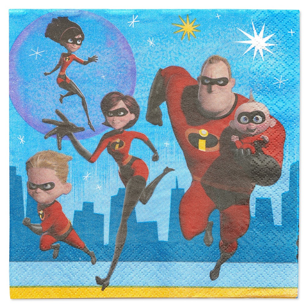 Image of Incredibles2 16ct Lunch Napkin, Multi-Colored