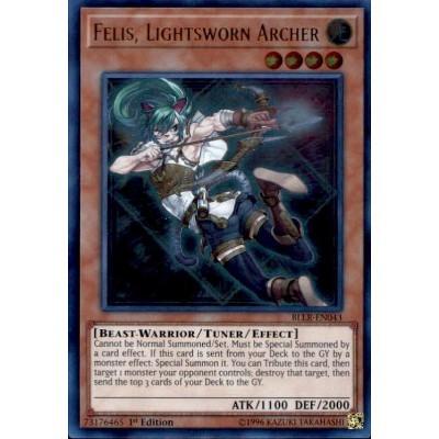 Felis Lightsworn Archer BLLR-EN043 1st edition Ultra Rare Near Mint