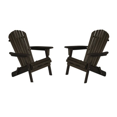 2pc Oceanic Adirondack Chairs - Dark Brown - W Unlimited