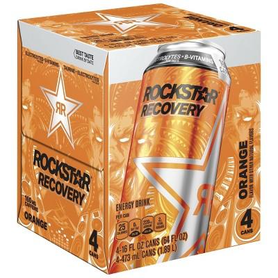 Rockstar Recovery Orange Energy Drink - 4pk/16 fl oz Cans