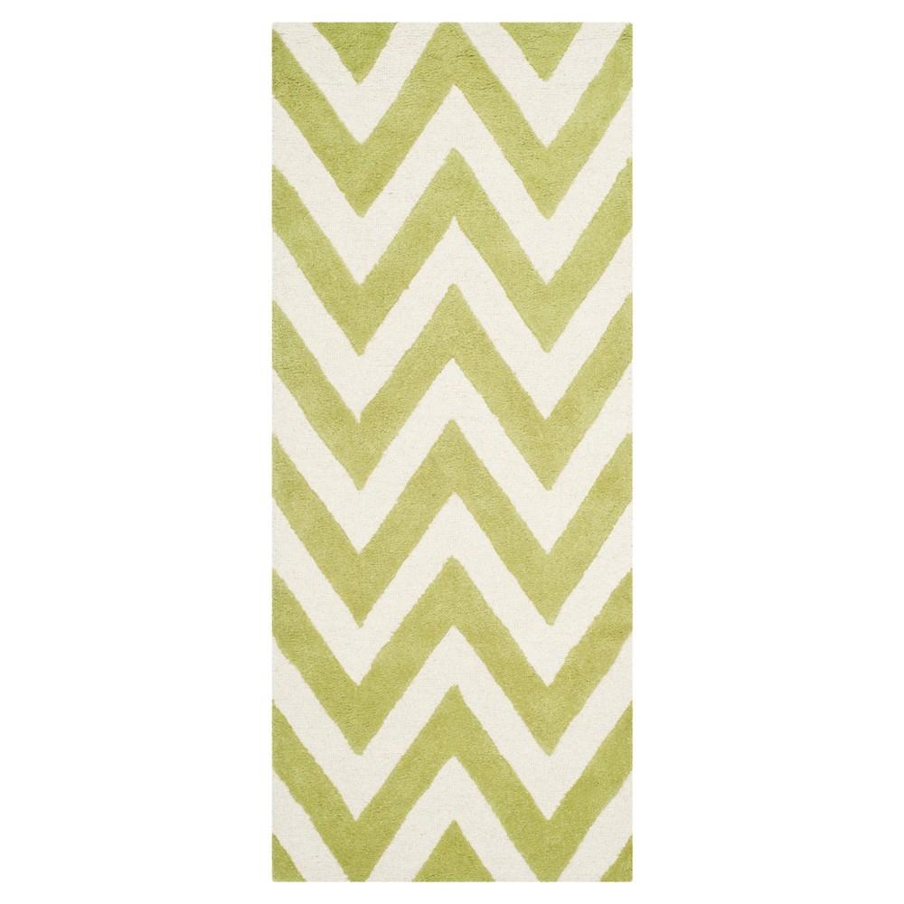 Dalton Textured Rug - Green / Ivory (2'6 X 6') - Safavieh, Green/Ivory