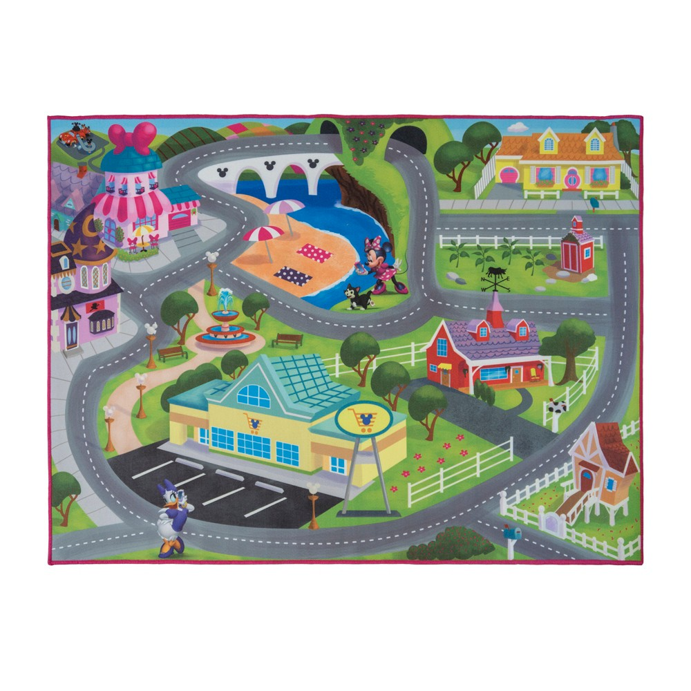 Image of Disney Minnie Mouse 2'2x4' Game Rug, Multi-Colored