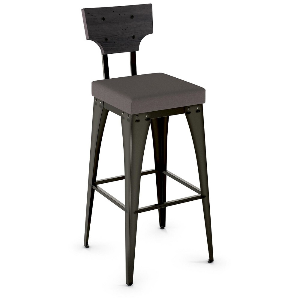 Rally 31 Barstool - Gray - Amisco, Dark Gray