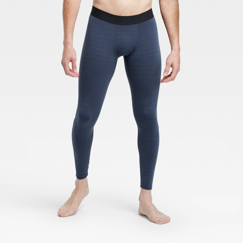 Men's Striped Coldweather Tights - All in Motion Navy Stripe S, Blue Stripe was $24.0 now $12.0 (50.0% off)