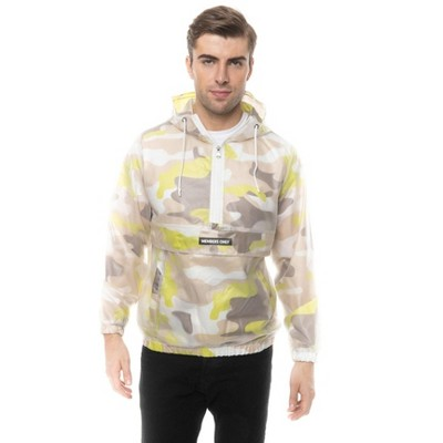 Members Only Translucent Camo Print Jackets for Men Casual
