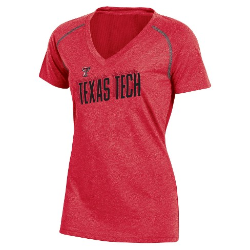NCAA Women's Workout Warrior V-Neck Mesh Back Performance Soft-Touch T-Shirt Texas Tech Red Raiders - image 1 of 1