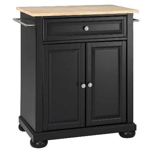 Alexandria Natural Wood Top Portable Kitchen Island - Crosley - image 1 of 6