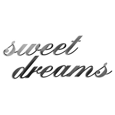 "27"" x 9"" Hand Painted 3D Wall Sculpture Sweet Dreams Nickle- Letter2Word"