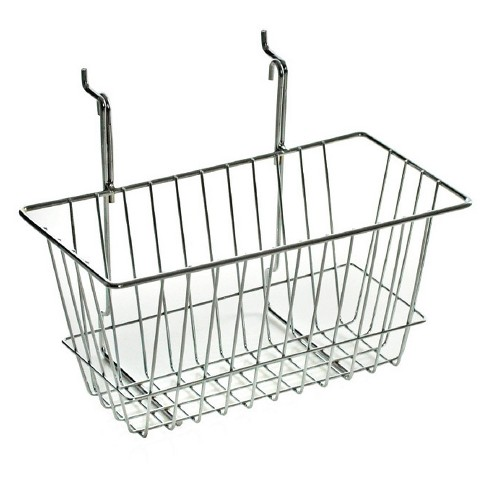 "Azar® 6.25"" Chrome Wire Basket 2ct - image 1 of 1"