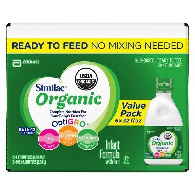 Similac Advance Organic Infant Formula Ready-to-Feed - 32oz