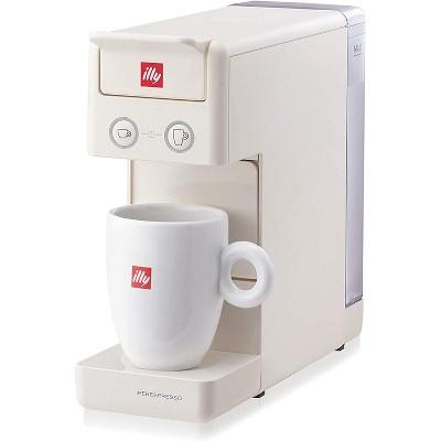 Illy Y3.3 Espresso And Coffee Machine, Compact Minimalist Design,  iperEspresso Capsule, 12.20X3.9X10.40