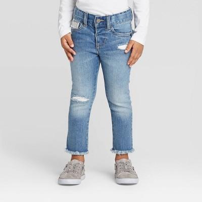 Toddler Girls' Crochet Skinny Jeans - Cat & Jack™ Blue 12M