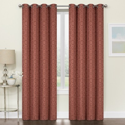 Kate Aurora Regency Collection Raised Jacquard Damask Grommet Top Curtains