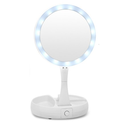 As Seen On Tv Foldaway Mirror With Double Sided Light And