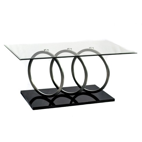 Cocktail Table Black/Silver - Home Source Industries - image 1 of 6