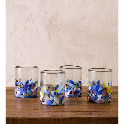 VivaTerra Riviera Recycled Glass Tumblers, Set of 4