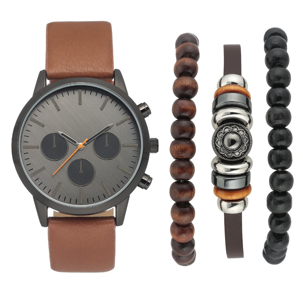 Image of Men's Watch Set - Goodfellow & Co Brown, Size: Small