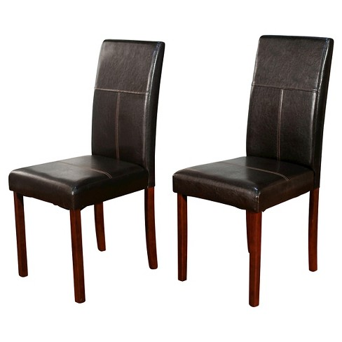Newark Parson Dining Chair Brown Set of 2 - TMS - image 1 of 2
