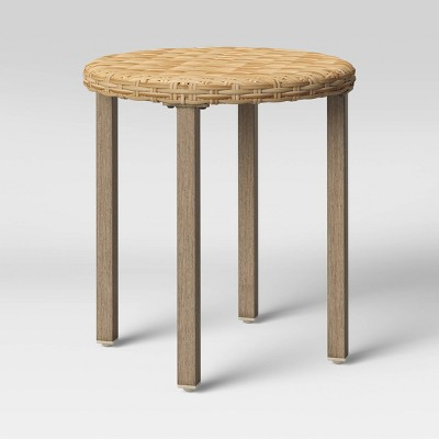 Eliot Closed Weave Patio Accent Table - Threshold™
