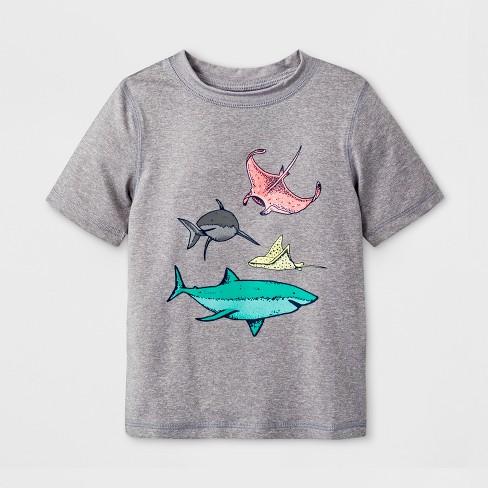 Toddler Boys' Short Sleeve Rash Guard - Cat & Jack™ Gray - image 1 of 1
