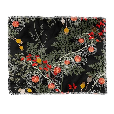 Iveta Abolina Citlali Night Woven Throw Blanket Black - Deny Designs - image 1 of 2