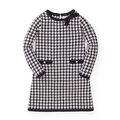Hope & Henry Girls' Houndstooth Sweater Dress, Infant