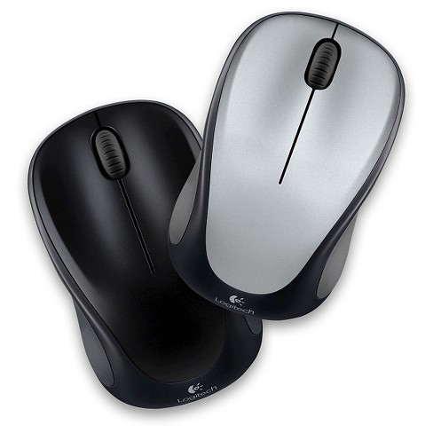 Logitech M317 Wireless Mouse - Assorted: Silver & Black (910-002892)