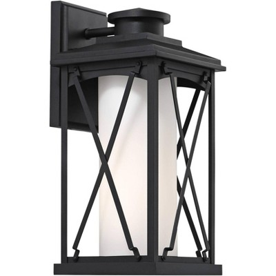 "Minka Lavery Lansdale 15 1/2"" High Matte Black Outdoor Wall Light"