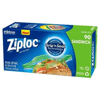 Ziploc Seal Top Sandwich Bags - 90ct