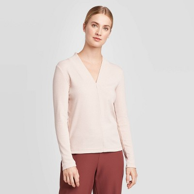 Women's Long Sleeve Rib-Knit Top - Prologue™