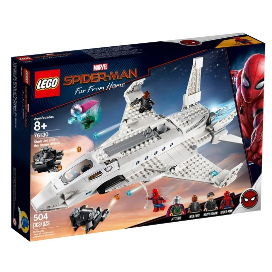 LEGO Super Heroes Marvel Spider-Man Stark Jet and the Drone Attack 76130 image number null