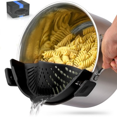 Zulay Kitchen Adjustable Silicone Pot Strainer For Most Pots & Pans