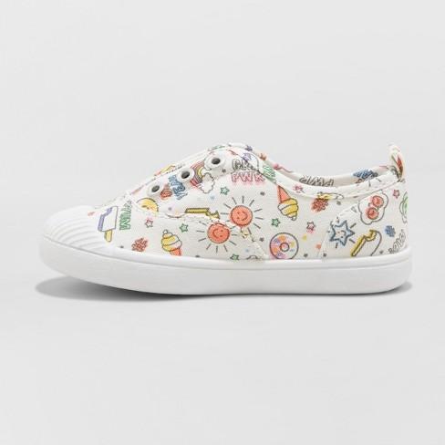 7892b2fb9 Toddler Girls  Alivia Canvas Slip On Sneakers - Cat   Jack™   Target
