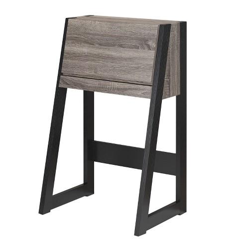 Tella Contemporary Storage Desk Dark Gray - ioHOMES - image 1 of 4