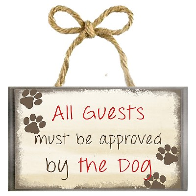 """10"""" x 7"""" Approved By The Dog Single Picture Frame Brown - PTM Images"""