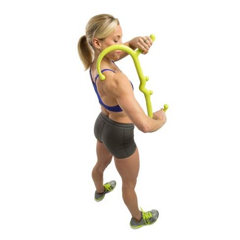 """21/"""" Green Foam Massage Roller Stick Deep Tissue Muscle Massage Relaxation"""