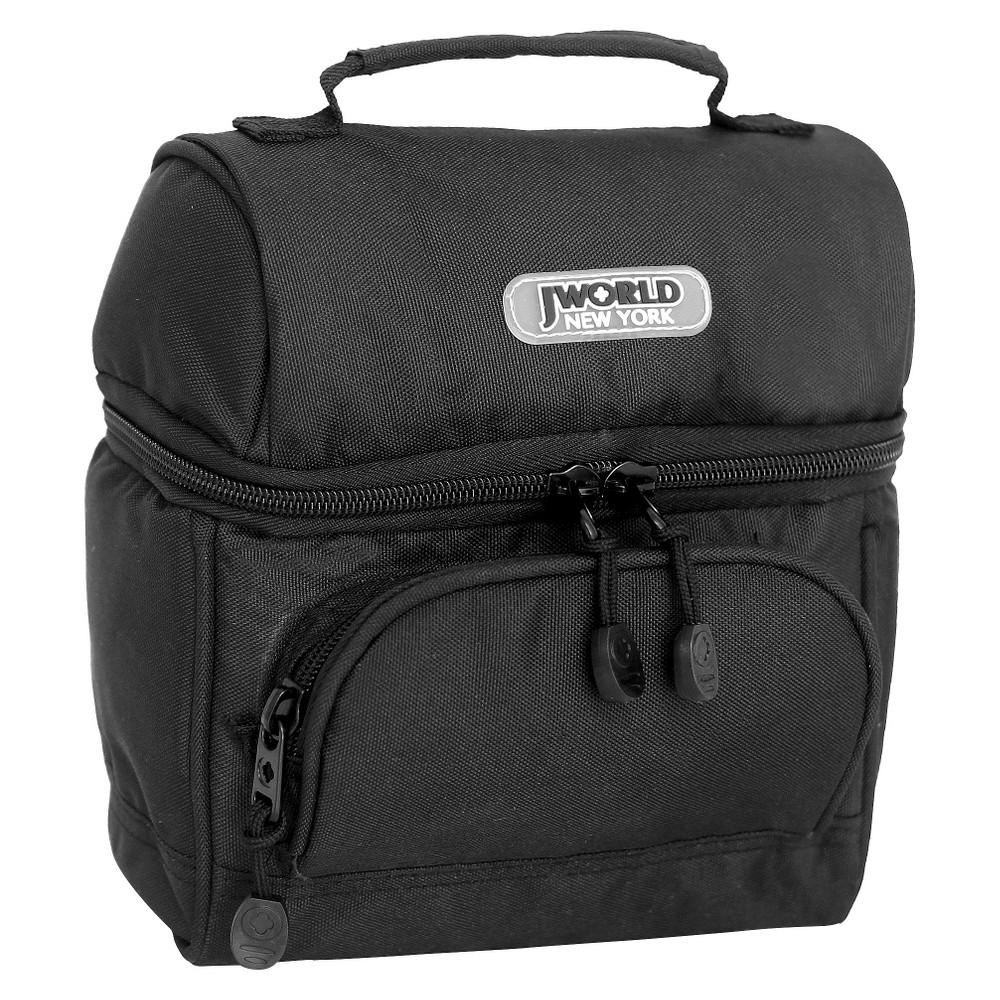 Image of J World Corey Lunch Bag with Front Pocket - Black