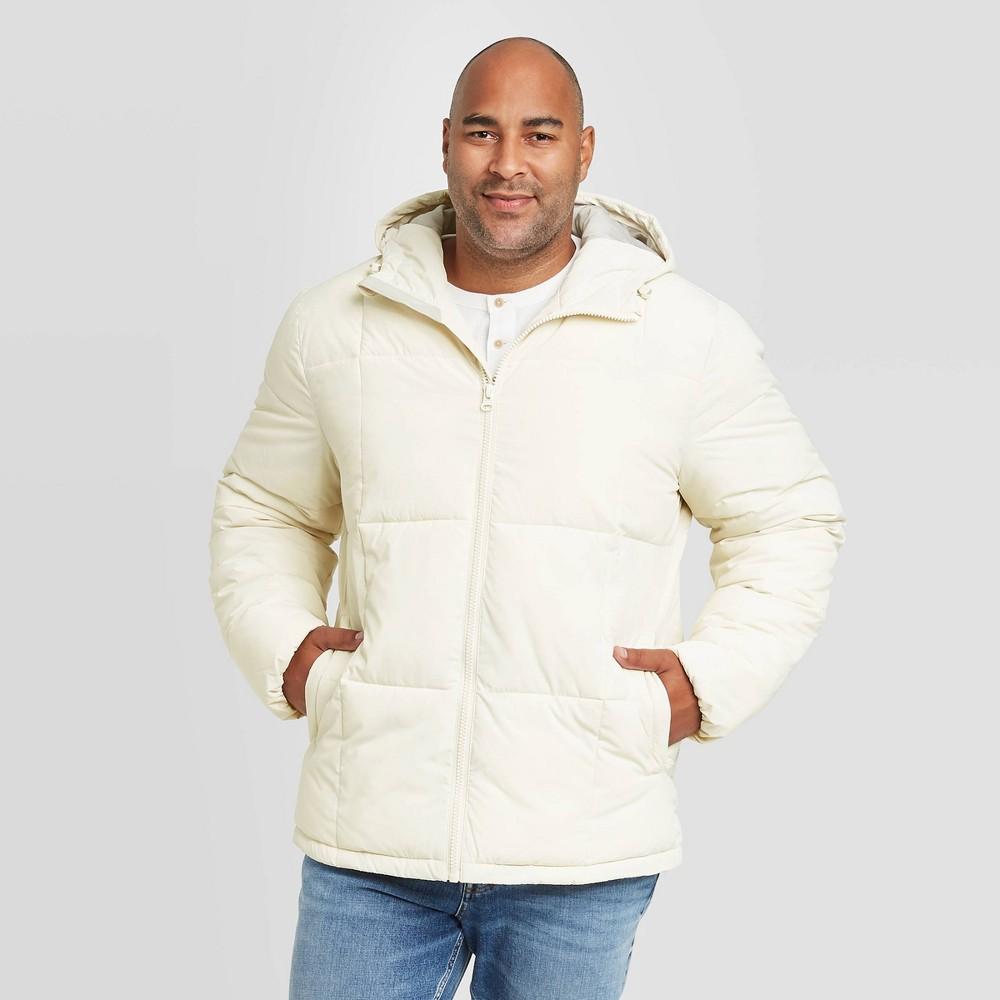 Promos Men's Big & Tall Hooded Puffer Jacket - Goodfellow & Co™