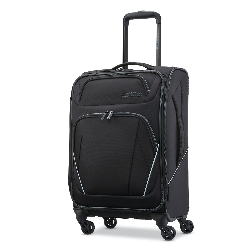 "Image of ""American Tourister 20"""" Superset Suitcase - Black, Size: Large"""