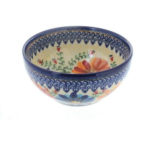 Blue Rose Polish Pottery Autumn Burst Cereal Soup Bowl Target