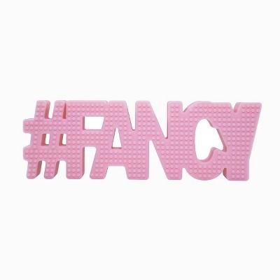 Hudson & Heart Company #Fancy Teetheword Baby Teether - Pink 2.8oz