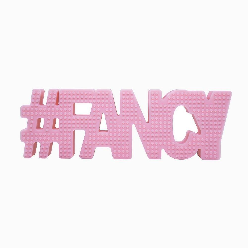 Image of Hudson & Heart Company #Fancy Teetheword Baby Teether - Pink 2.8oz