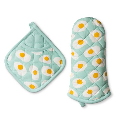 2pc Kitchen Textile Aqua - Room Essentials™